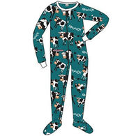 Lazy One Toddler Boys' Moody In The Morning Footeez Pajama