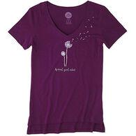 Life is Good Women's Dandelion Good Vibes Pocket Short-Sleeve T-Shirt