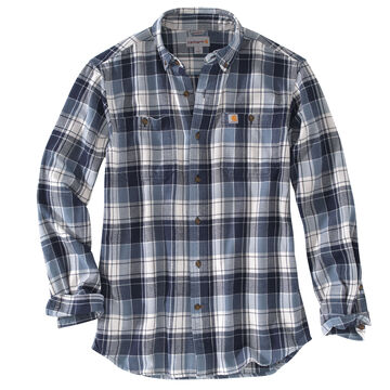Carhartt Mens Big & Tall Trumbull Plaid Long-Sleeve Shirt