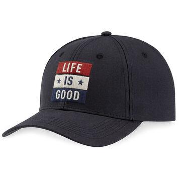 Life is Good Men's LIG Flag High Rise Chill Cap