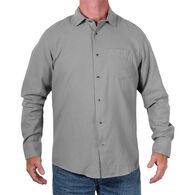 Bermo Men's Cotton Apparel Tweed Woven Long-Sleeve Shirt