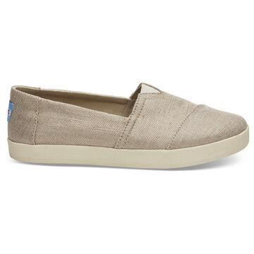 TOMS Womens Avalon Metallic Woven Slip-On Shoe