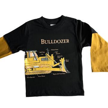 Spudz Toddler Boys Bulldozer Long-Sleeve T-Shirt