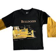Spudz Boys' Bulldozer Long-Sleeve T-Shirt