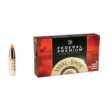 Federal Premium Vital-Shok 308 Winchester (7.62x51mm) 165 Grain Trophy Bonded Tip Rifle Ammo (20)