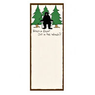 Hatley Little Blue House Does a Bear Sit in the Woods? Magnetic List Notepad