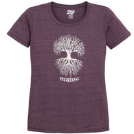 Lakeshirts Women's Blue 84 Annie's Tree of Life Maine Short-Sleeve T-Shirt