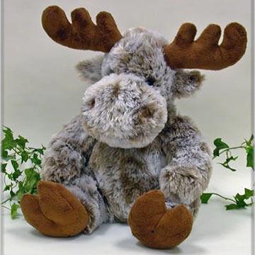 Wishpets Stuffed Sitting Frosty Softy Moose