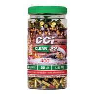 CCI Christmas Pack Clean-22 HV 22 LR 40 Grain Lead RN Ammo (400)