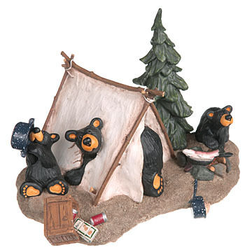 "Big Sky Carvers ""Camp Runamuck"" Bear Figurine"