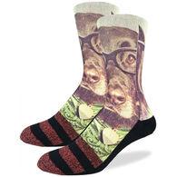 Good Luck Sock Men's Hipster Dog Crew Sock
