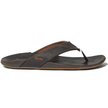 OluKai Men's Nui Leather Flip Flop Sandal