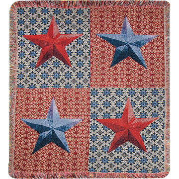 Manual Woodworkers & Weavers American Star Tapestry Throw