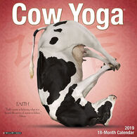 Willow Creek Press Cow Yoga 2019 Wall Calendar