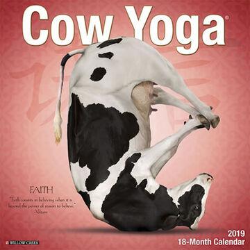 Willow Creek Press Cow Yoga 2019 Wall Calendar