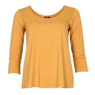 Salaam Clothing Women's Cora 3/4-Sleeve T-Shirt