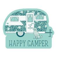 Life is Good Happy Camper Die Cut Sticker