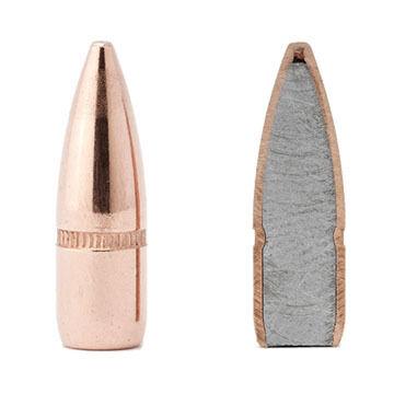 """Hornady 22 Cal. 55 Grain .224"""" FMJ BT w/ Cannelure Rifle Bullet (100)"""