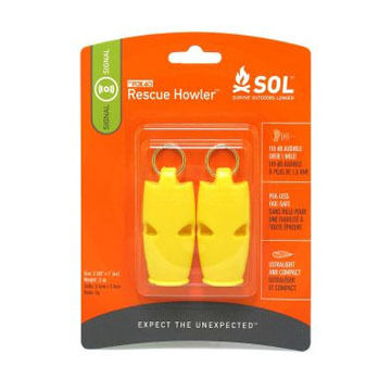 Adventure Medical SOL Rescue Howler Whistle - 2 Pk.