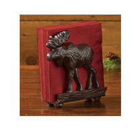 Park Designs Burl Moose Cast Napkin Holder