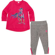 Carhartt Infant/Toddler Girls' Painterly Horse Set, 2pc