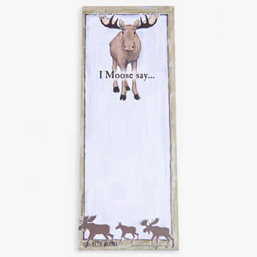 Hatley Little Blue House I Moose Say Magnetic List Notepad