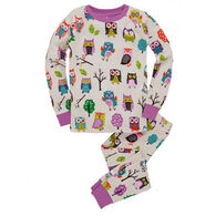 Hatley Girls' Party Owls Pajama Set