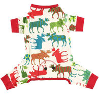 Lazy One Patterned Moose Dog Flapjack Onesie