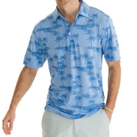 Southern Tide Men's Palm Print Driver Performance Polo Short-Sleeve Shirt