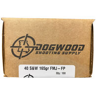 Dogwood Shooting Supply 40 S&W 165 Grain FMJ Handgun Ammo (100)