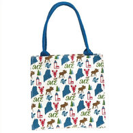 Rockflowerpaper Maine Blue Itsy Bitsy Gift Bag