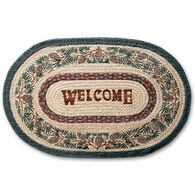 Capitol Earth Pinecone Welcome Oval Braided Rug