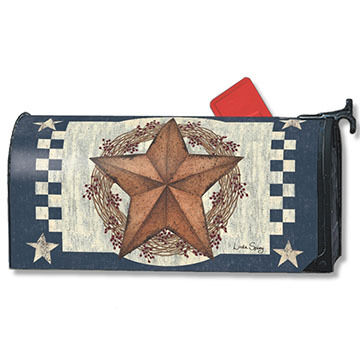 MailWraps Blue Barn Star Mailbox Cover