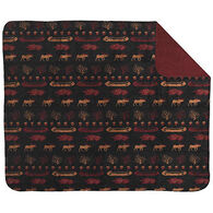Monterey Mills Denali Black Denali Lake/Merlot Throw Blanket