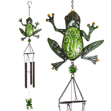 Red Carpet Studios Frog Glimmer N' Glass Wind Chime