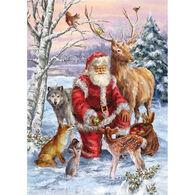 LPG Greetings Woodland Santa Boxed Christmas Cards