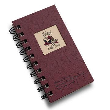 "Journals Unlimited ""Write it Down!"" Mini-Size Wine Journal -  Maroon"