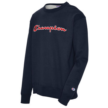 Champion Mens Powerblend Applique Crew Sweatshirt