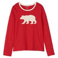 Hatley Little Blue House Women's Fair Isle Bear Long-Sleeve Pajama T-Shirt