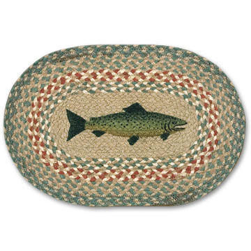 Capitol Earth Braided Oval Fish Swatch Rug