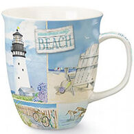 Cape Shore Maine Coastal Collage Harbor Mug