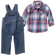 Carhartt Infant Girl's Denim Overall 2-Piece Set