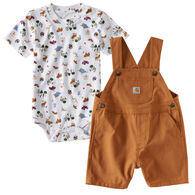 Carhartt Infant/Toddler Boys' Wild Shortall Set, 2pc