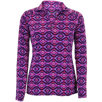 White Sierra Womens Alpha Beta Quarter Zip Printed Fleece Top