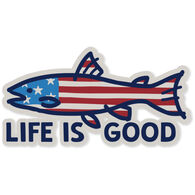 Life is Good Fish Flag Decal