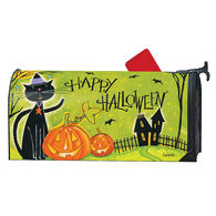 MailWraps Black Cat Magic Magnetic Mailbox Cover