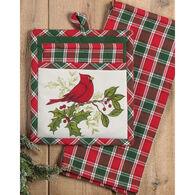 Kay Dee Designs Cardinal Plaid Gift Set, 2-Piece