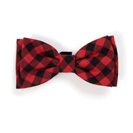 The Worthy Dog Buffalo Plaid Dog Bow Tie