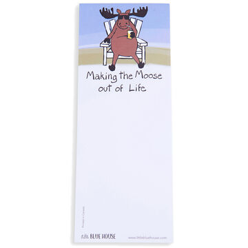 Hatley Little Blue House Making The Moose Out Of Life Magnetic List Notepad