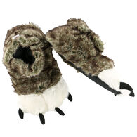 Lazy One Boy's & Girls' Wolf Paw Slipper
